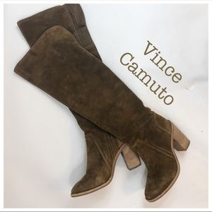 Vince Camuto Melaya Over the Knee Suede Boots 7.5